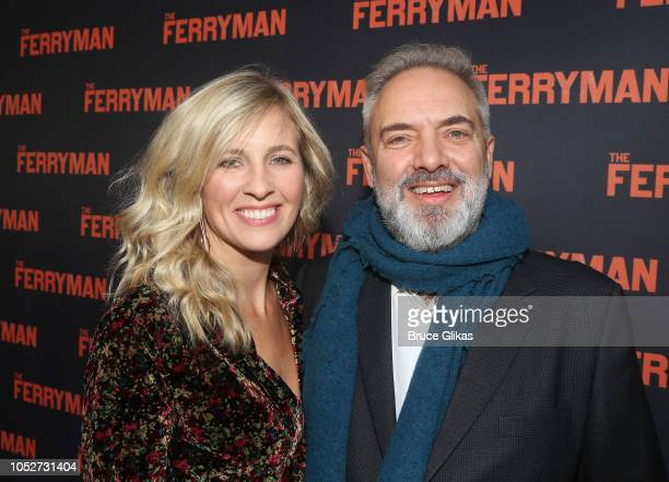 Alison Balsom and husband Director Sam Mendes pose at the opening night of the new play The Ferryman on Broadway at The Bernard B Jacobs Theatre on...