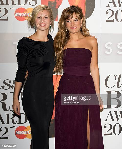 Alison Balsom and Nicola Benedetti attend the Classic Brit Awards 2012 at Royal Albert Hall on October 2 2012 in London United Kingdom