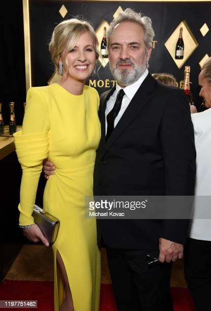 Alison Balsom and Sam Mendes attend the 77th Annual Golden Globe Awards at The Beverly Hilton Hotel on January 05 2020 in Beverly Hills California