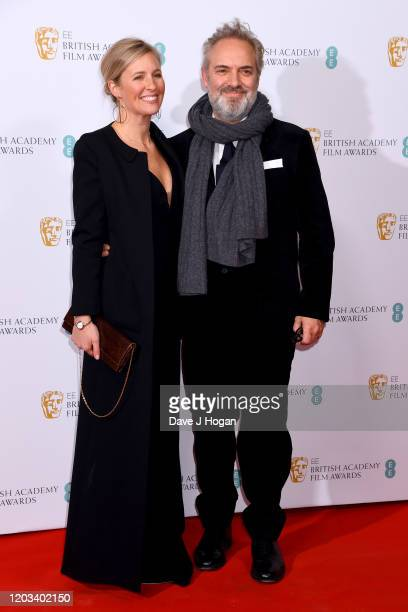 Alison Balsom and Sam Mendes attend the EE British Academy Film Awards 2020 Nominees' Party at Kensington Palace on February 01 2020 in London England