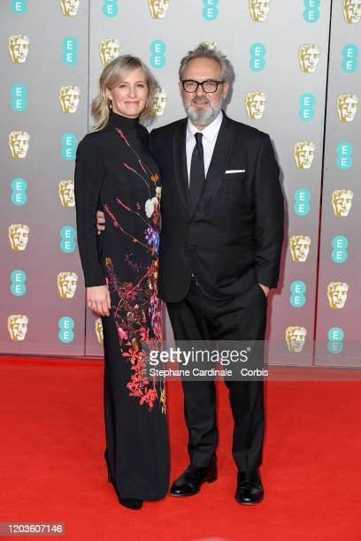 Alison Balsom and Sam Mendes attend the EE British Academy Film Awards 2020 at Royal Albert Hall on February 02 2020 in London England