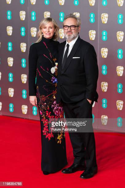 Alison Balsom and Sam Mendes attend the EE British Academy Film Awards ceremony at the Royal Albert Hall on 02 February 2020 in London England...