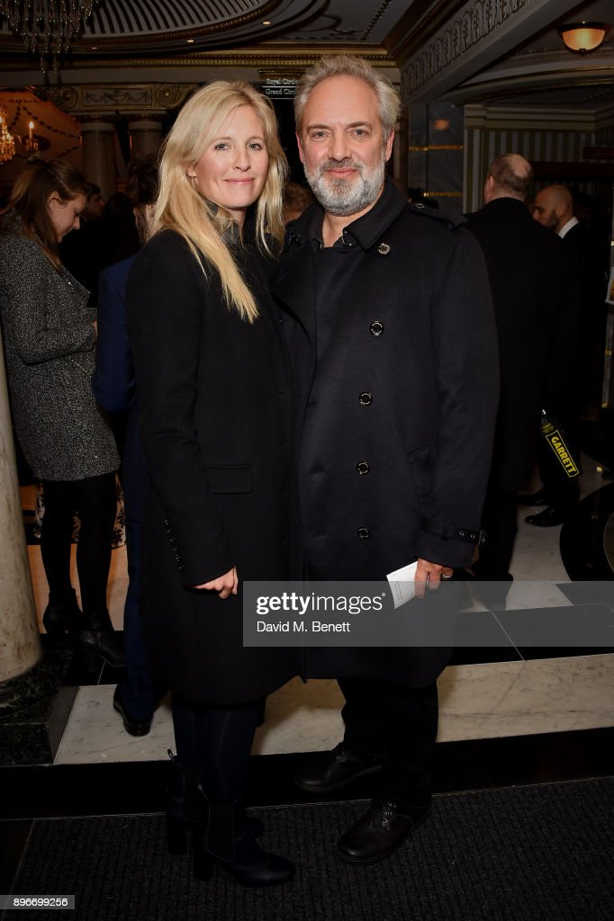Alison Balsom and Sam Mendes attend the press night performance of 'Hamilton' at The Victoria Palace Theatre on December 21, 2017 in London, England.