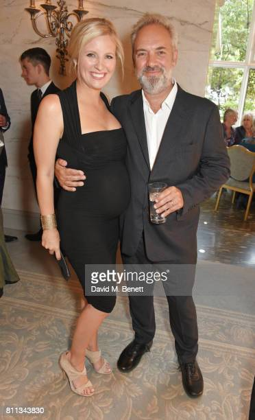 Alison Balsom and Sam Mendes attend The South Bank Sky Arts Awards drinks reception at The Savoy Hotel on July 9 2017 in London England
