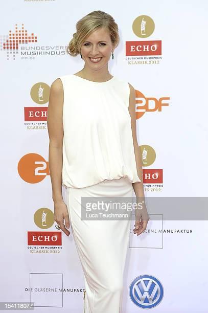 Alison Balsom attends the Echo Klassik 2012 award ceremony at Konzerthaus on October 14 2012 in Berlin Germany