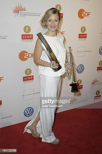 Alison Balsom attends the Echo Klassik 2012 award ceremony at Konzerthaus on October 14, 2012 in Berlin, Germany.