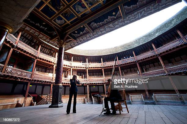 Alison Balsom performs at the press launch of the new season at Shakespeare's Globe on February 7 2013 in London England