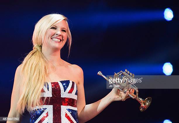 Alison Balsom performs on stage at BBC Proms in the Park at Hyde Park on September 12 2015 in London England