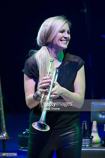 Alison Balsom performs on stage at Birmingham Town Hall on October 14 2014 in Birmingham United Kingdom