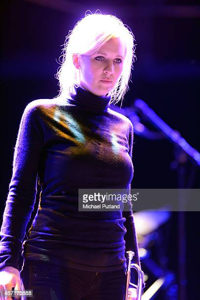 Alison Balsom performs on stage at rehearsal at Royal Albert Hall on October 13 2014 in London United Kingdom