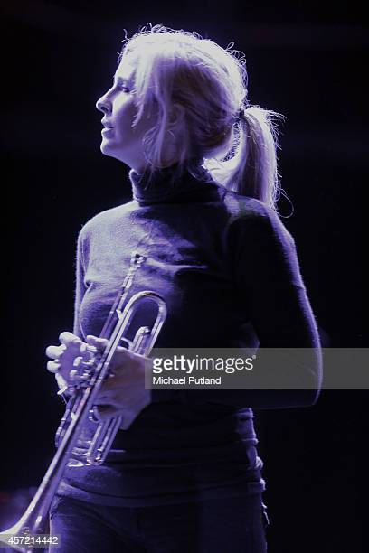 Alison Balsom rehearsal on stage at Royal Albert Hall on October 13 2014 in London United Kingdom