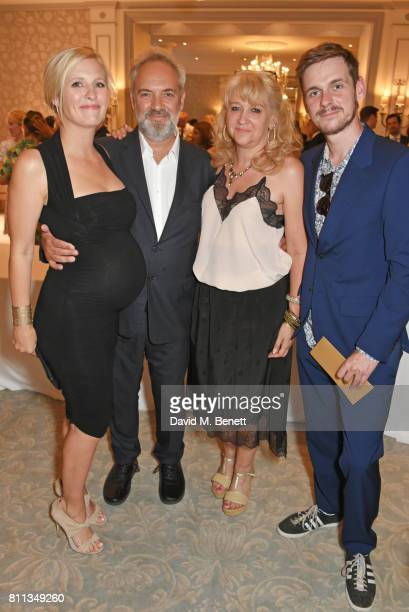 Alison Balsom Sam Mendes Sonia Friedman and Joe Murphy attend The South Bank Sky Arts Awards drinks reception at The Savoy Hotel on July 9 2017 in...