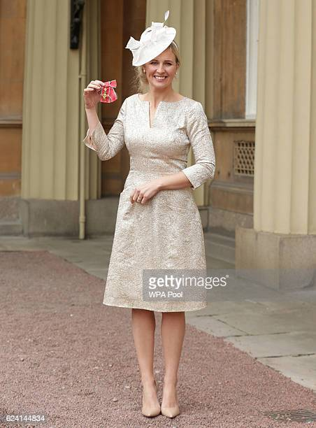 Alison Balsom with her OBE which she received from the Prince of Wales during an Investiture ceremony at Buckingham Palace on November 18 2016 in...