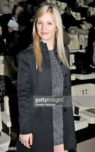 Alison Balson attends the Emporio Armani Fashion Show as part of Milan Fashion Week Menswear A/W 2011 on January 16 2011 in Milan Italy
