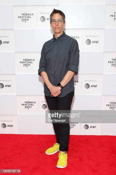 """Alison Bechdel attends 2021 Tribeca Festival Premiere of """"No Straight Lines"""" at Pier 76 on June 12, 2021 in New York City."""