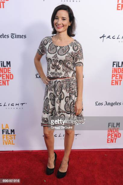 Alison Becker arrives at the 2017 Los Angeles Film Festival Premiere Of 'Becks' at Arclight Cinemas Culver City on June 15 2017 in Culver City...