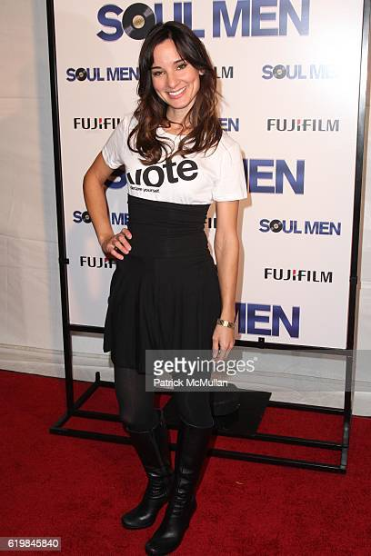 Alison Becker attends METROGOLDWYNMAYER PICTURES DIMENSION FILMS and the BERNIE MAC FOUNDATION with FUJI FILMS Presents The World Premiere of SOULMEN...