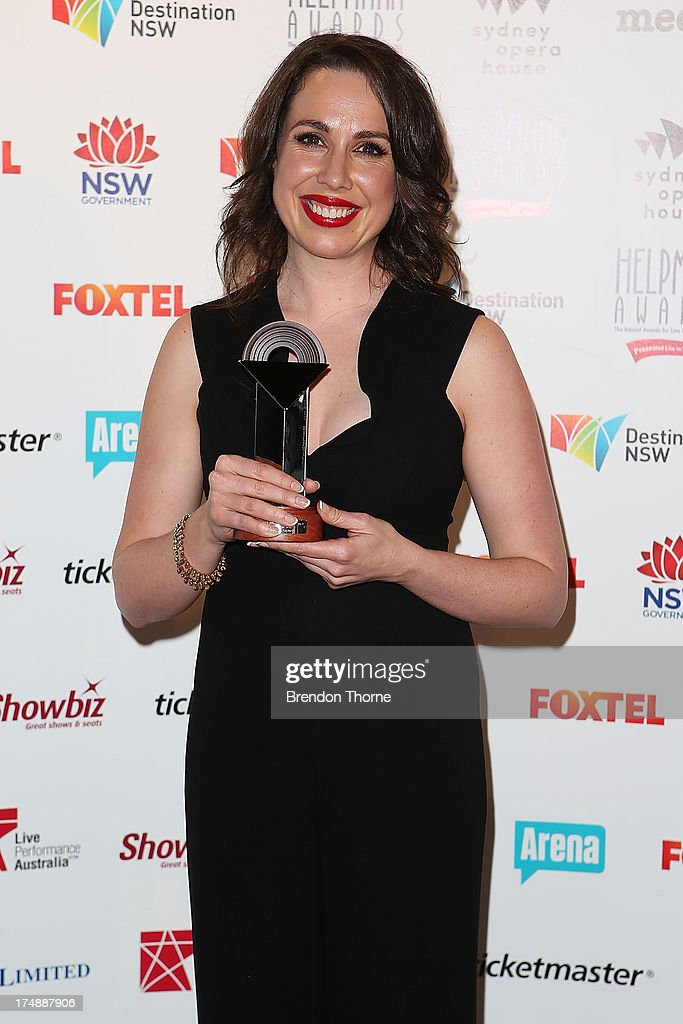 Alison Bell poses with the award for Best Female Actor in a Play at the 2013 Helpmann Awards at the Sydney Opera House on July 29, 2013 in Sydney, Australia.