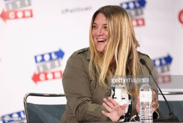 Alison Brettschneider speaks onstage during Politicon 2018 at Los Angeles Convention Center on October 20 2018 in Los Angeles California