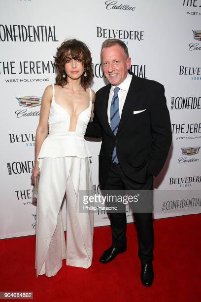 Alison Brie and LA Confidential Editor in Chief Spencer Beck attend the Los Angeles Confidential Alison Brie and Cadillac celebrate annual Awards...
