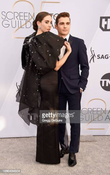 Alison Brie and Dave Franco attend the 25th Annual Screen Actors Guild Awards at The Shrine Auditorium on January 27 2019 in Los Angeles California...