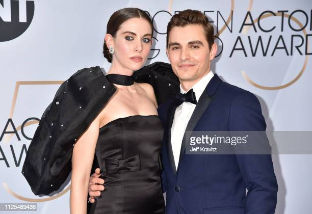 Alison Brie and Dave Franco attend the 25th Annual Screen ActorsGuild Awards at The Shrine Auditorium on January 27 2019 in Los Angeles California