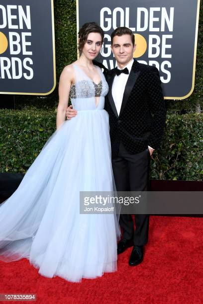Alison Brie and Dave Franco attend the 76th Annual Golden Globe Awards at The Beverly Hilton Hotel on January 6 2019 in Beverly Hills California