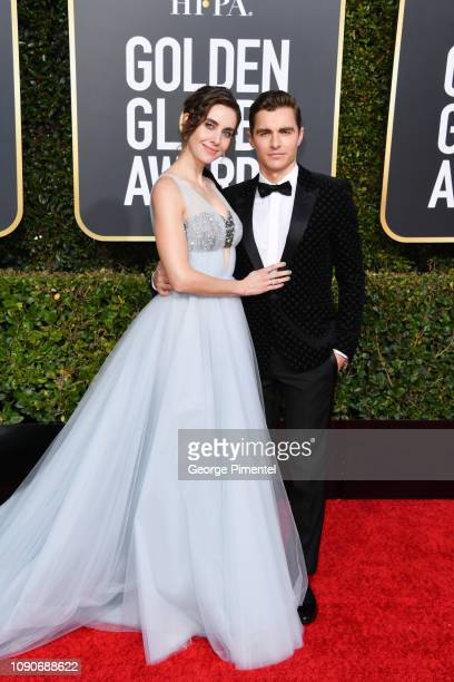Alison Brie and Dave Franco attend the 76th Annual Golden Globe Awards held at The Beverly Hilton Hotel on January 06, 2019 in Beverly Hills,...