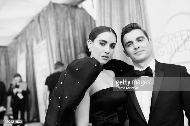Alison Brie and Dave Franco attends the 25th Annual Screen Actors Guild Awards at The Shrine Auditorium on January 27 2019 in Los Angeles California...