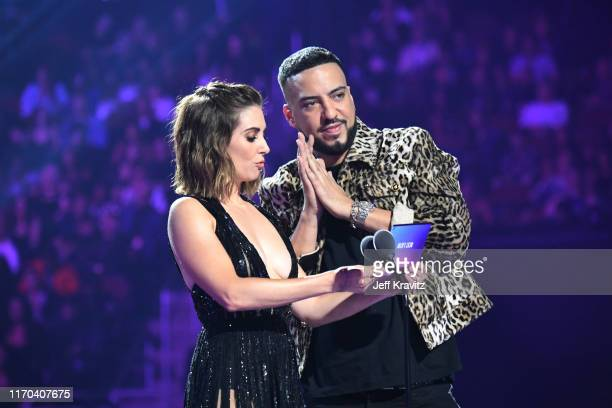 Alison Brie and French Montana onstage during the 2019 MTV Video Music Awards at Prudential Center on August 26 2019 in Newark New Jersey
