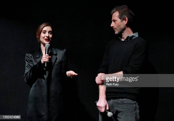 Alison Brie and Jeff Baena attend the 2020 Sundance Film Festival Horse Girl Premiere at The Ray on January 27 2020 in Park City Utah