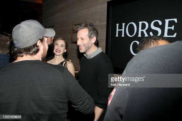 Alison Brie and Jeff Baena attend the Netflix Horse Girl Post Cocktails at The Ray on January 27 2020 in Park City Utah
