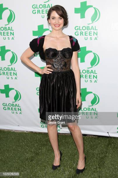 Alison Brie arrives at Global Green USA's 14th Annual Millennium Awards at the Fairmont Miramar Hotel on June 12 2010 in Santa Monica California