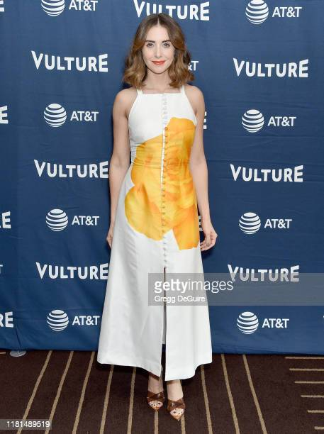 Alison Brie arrives at the Vulture Festival Los Angeles 2019 Day 2 at Hollywood Roosevelt Hotel on November 10, 2019 in Hollywood, California.