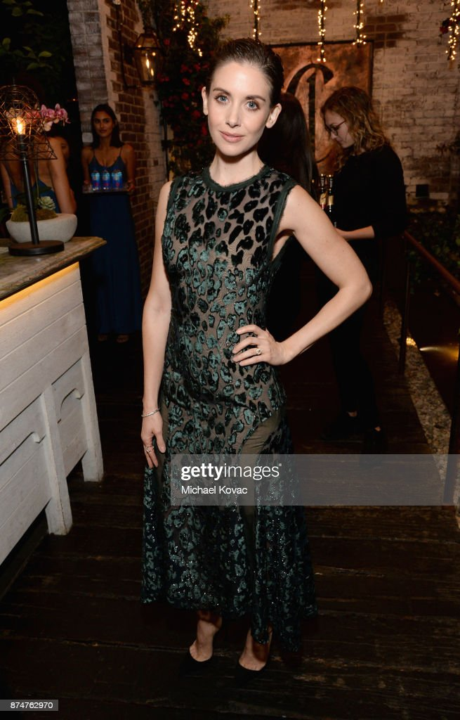 Alison Brie at Moet Celebrates The 75th Anniversary of The Golden Globes Award Season at Catch LA on November 15, 2017 in West Hollywood, California.