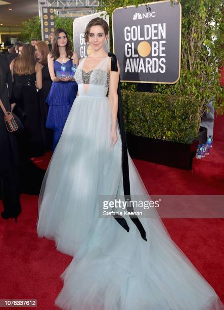 Alison Brie attends FIJI Water at the 76th Annual Golden Globe Awards on January 6 2019 at the Beverly Hilton in Los Angeles California