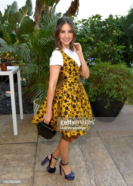 Alison Brie attends Netflix TCA 2018 at The Beverly Hilton Hotel on July 29 2018 in Beverly Hills California