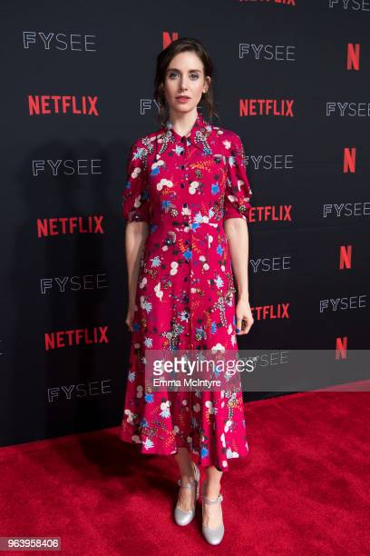 Alison Brie attends #NETFLIXFYSEE For Your Consideration event For GLOW at Netflix FYSEE At Raleigh Studios on May 30 2018 in Los Angeles California
