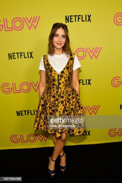 Alison Brie attends Netflix's Glow celebrates its 10 Emmy Nominations with RollerSkating event at World on Wheels on July 29 2018 in Los Angeles...