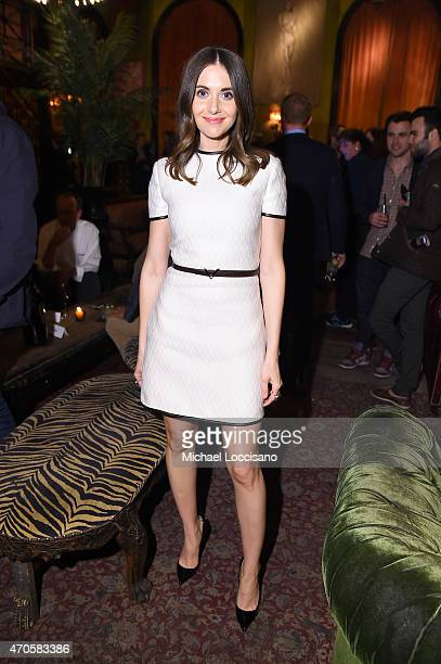 Alison Brie attends the 2015 Tribeca Film Festival After Party for 'Sleeping With Other People' sponsored by Dark Horse Wines at The Jane Hotel on...