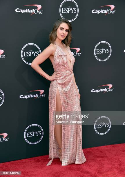 Alison Brie attends The 2018 ESPYS at Microsoft Theater on July 18 2018 in Los Angeles California