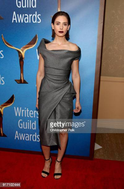 Alison Brie attends the 2018 Writers Guild Awards LA Ceremony at The Beverly Hilton Hotel on February 11 2018 in Beverly Hills California