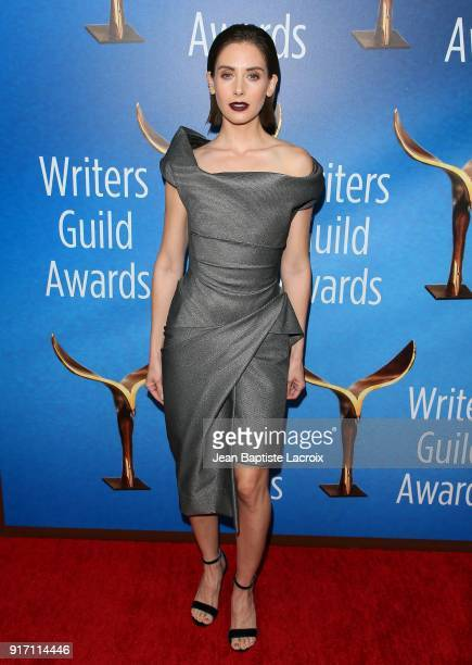 Alison Brie attends the 2018 Writers Guild Awards LA Ceremony on February 11 2018 in Beverly Hills California