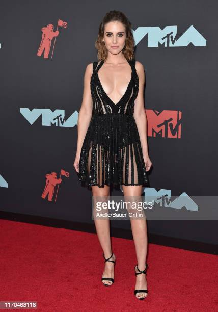 Alison Brie attends the 2019 MTV Video Music Awards at Prudential Center on August 26 2019 in Newark New Jersey