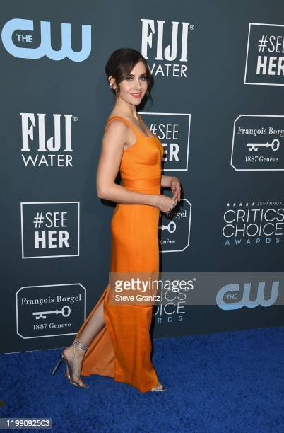 Alison Brie attends the 25th Annual Critics' Choice Awards at Barker Hangar on January 12 2020 in Santa Monica California