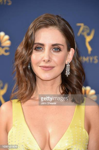 Alison Brie attends the 70th Emmy Awards at Microsoft Theater on September 17 2018 in Los Angeles California