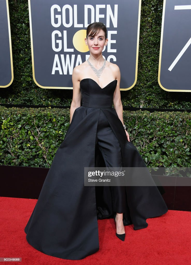 Alison Brie attends The 75th Annual Golden Globe Awards at The Beverly Hilton Hotel on January 7, 2018 in Beverly Hills, California.