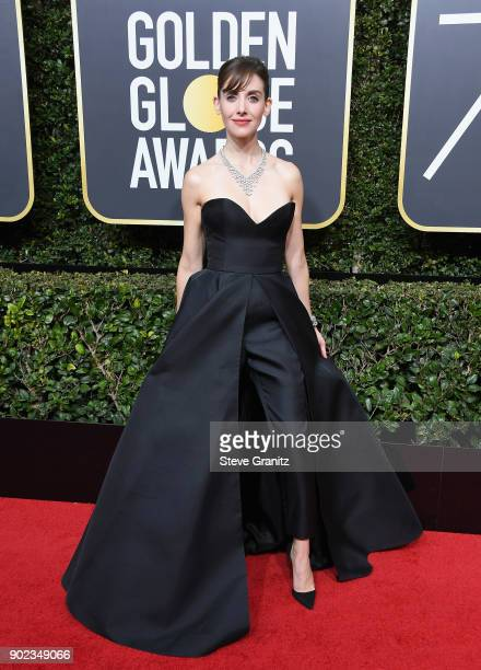 Alison Brie attends The 75th Annual Golden Globe Awards at The Beverly Hilton Hotel on January 7 2018 in Beverly Hills California