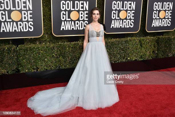 Alison Brie attends the 76th Annual Golden Globe Awards at The Beverly Hilton Hotel on January 06 2019 in Beverly Hills California