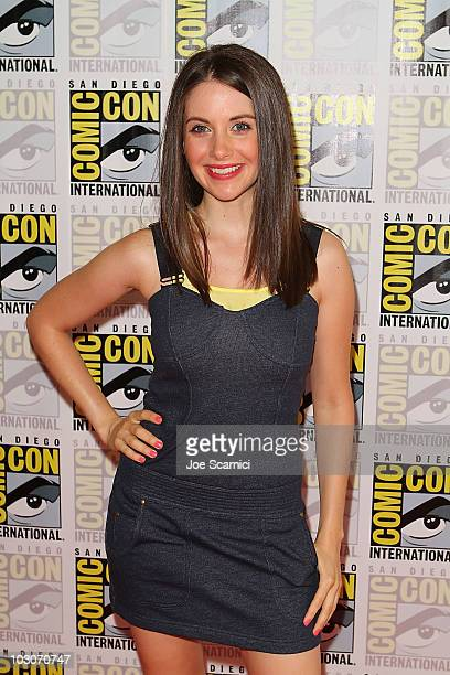 Alison Brie attends the Community Press line on Day 3 of 2010 ComicCon International at San Diego Convention Center on July 24 2010 in San Diego...